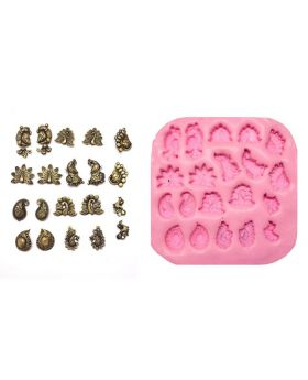 Peacock Design Medium Size Studs Mould Pad