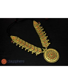 Golden Charm Traditional Terracotta Jewellery set