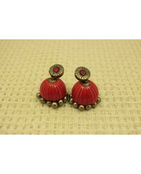 Tempting terracotta jhumka