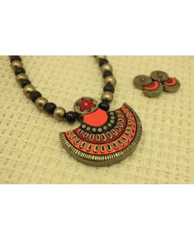 Exquisite contemporary terracotta jewellery set