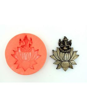 Lotus Ganesha Temple Mould