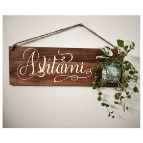 RNR1011 Personalized Wooden Name Board