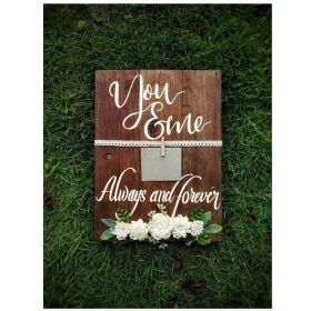 You & Me Always & Forever Hand Painted  Wooden Board