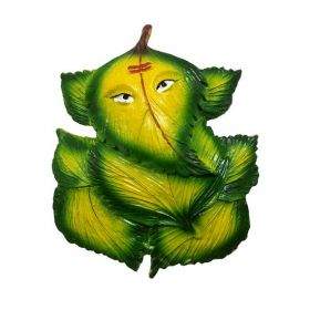 Lord Vinayaka On Leaves Temple Mould