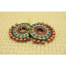 Diva dangler terracotta earrings
