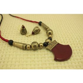 Classic designer terracotta jewellery set