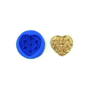 Lovely Heart Floral Mould