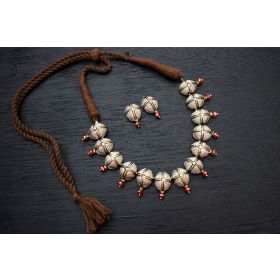 Demi Choker Terracotta Jewellery (Antique Silver)