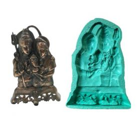 Shiva Parvati Ganesha Big Size Idol Mould